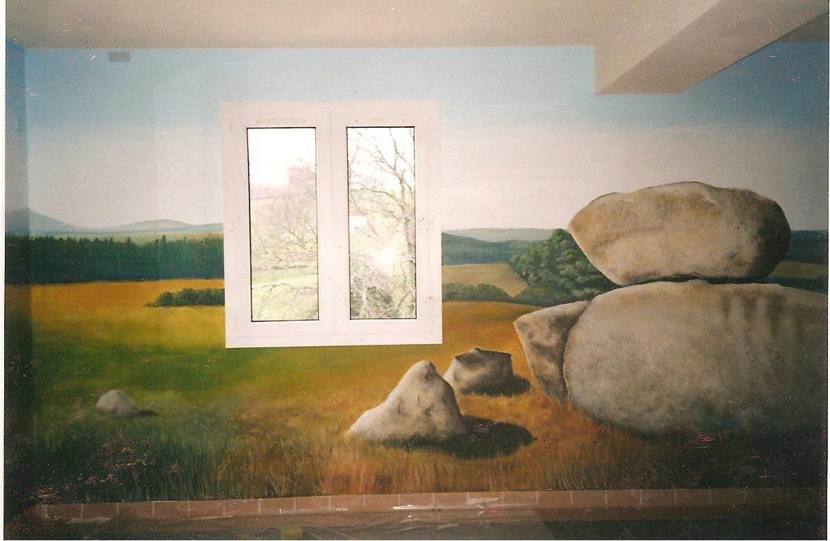 Mur peint suite for Poncer un mur peint
