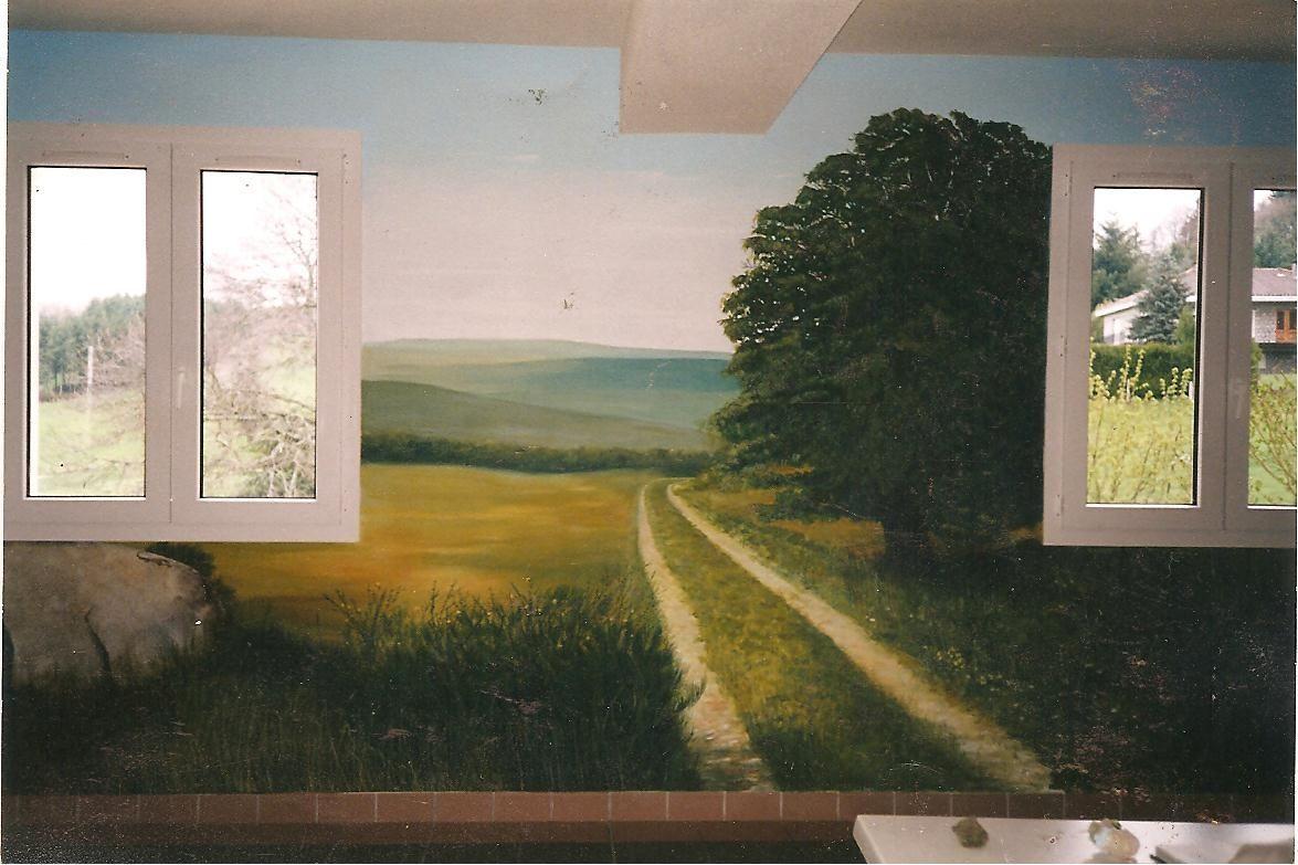 Mur peint for Poncer un mur peint